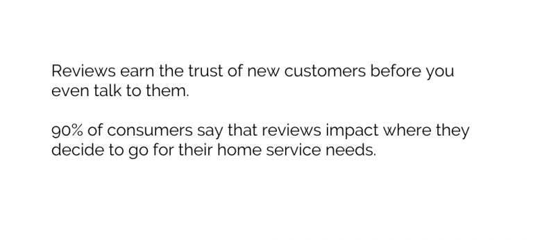 Home Services why reviews matter